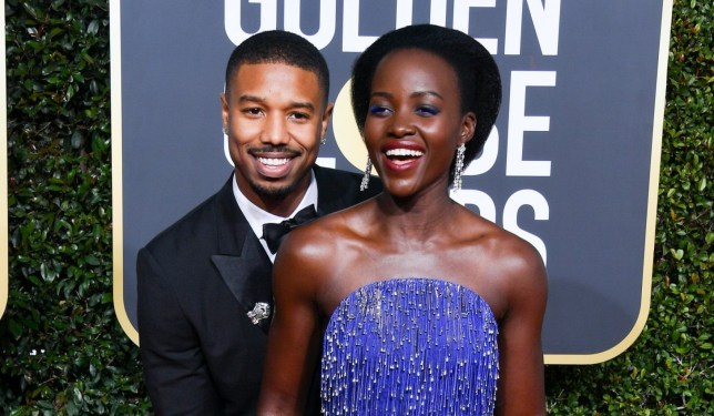 BEVERLY HILLS, CALIFORNIA - JANUARY 06: Michael B. Jordan and Lupita Nyong'o attend the 76th Annual Golden Globe Awards held at The Beverly Hilton Hotel on January 06, 2019 in Beverly Hills, California. (Photo by George Pimentel/WireImage)