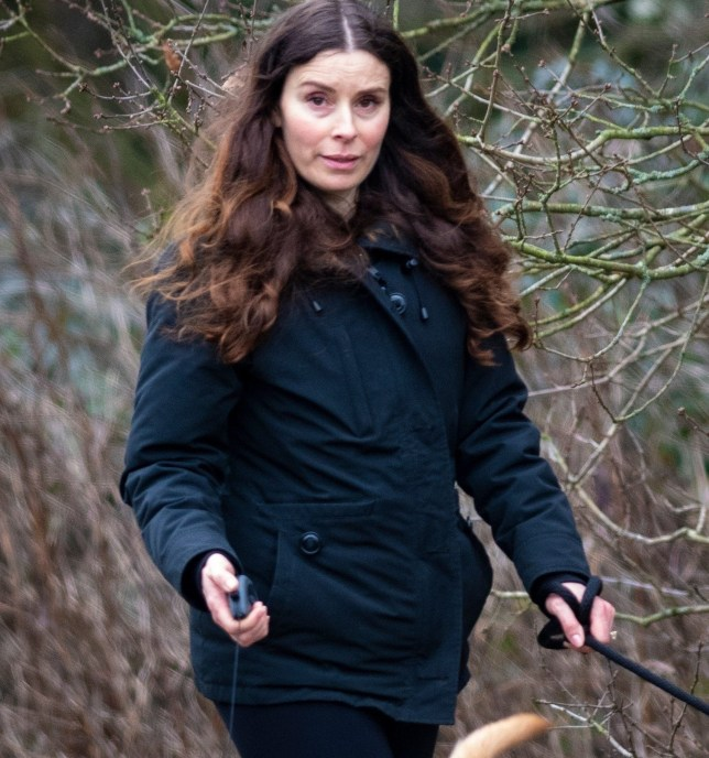 BGUK_1448789 - London, UNITED KINGDOM - *EXCLUSIVE* - **No Sun Online or Mail Online** Tana Ramsay is glowing as she shows off baby bump at 44 years old after miscarriage sadness. In the first pics since the pregnancy announcement in the New Year the mum of 4 went on a walk with a friend and was the picture of happiness as she played ball with her two dogs. *STRICTLY NOT AVAILABLE FOR ANY SUBSCRIPTION DEALS* Pictured: Tana Ramsay BACKGRID UK 6 JANUARY 2019 UK: +44 208 344 2007 / uksales@backgrid.com USA: +1 310 798 9111 / usasales@backgrid.com *UK Clients - Pictures Containing Children Please Pixelate Face Prior To Publication*