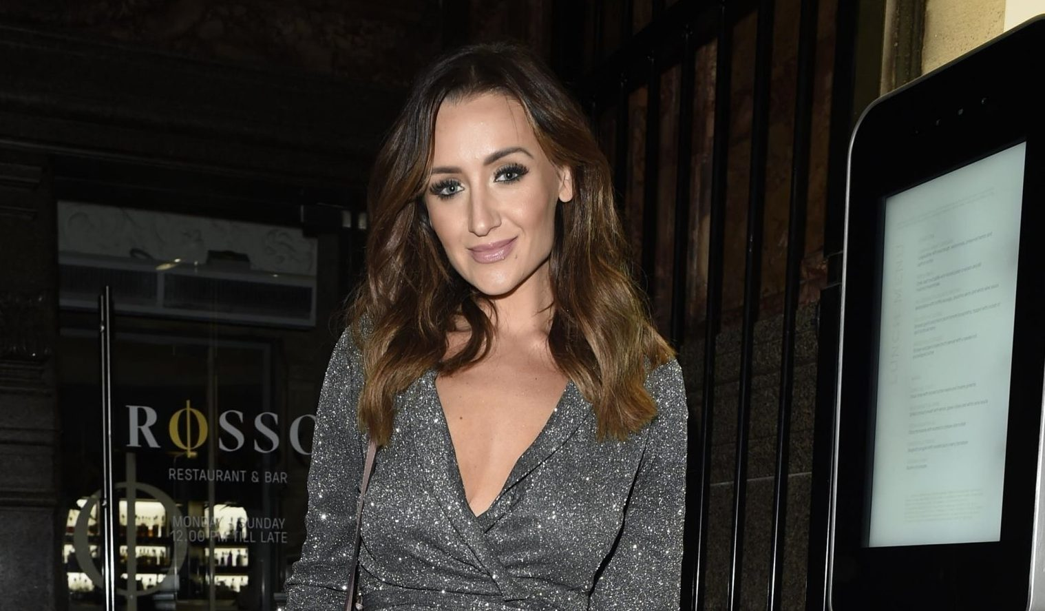 BGUK_1449093 - Manchester, UNITED KINGDOM - ***STRICTLY NO MAIL ON LINE USAGE*** Former Coronation Street star Catherine Tyldelsey and her husband Tom Pitford enjoy a date night at Rosso Restaurant in Manchester were they had there first ever date. Pictured: Catherine Tyldelsey BACKGRID UK 6 JANUARY 2019 BYLINE MUST READ: FARRELL / BACKGRID UK: +44 208 344 2007 / uksales@backgrid.com USA: +1 310 798 9111 / usasales@backgrid.com *UK Clients - Pictures Containing Children Please Pixelate Face Prior To Publication*