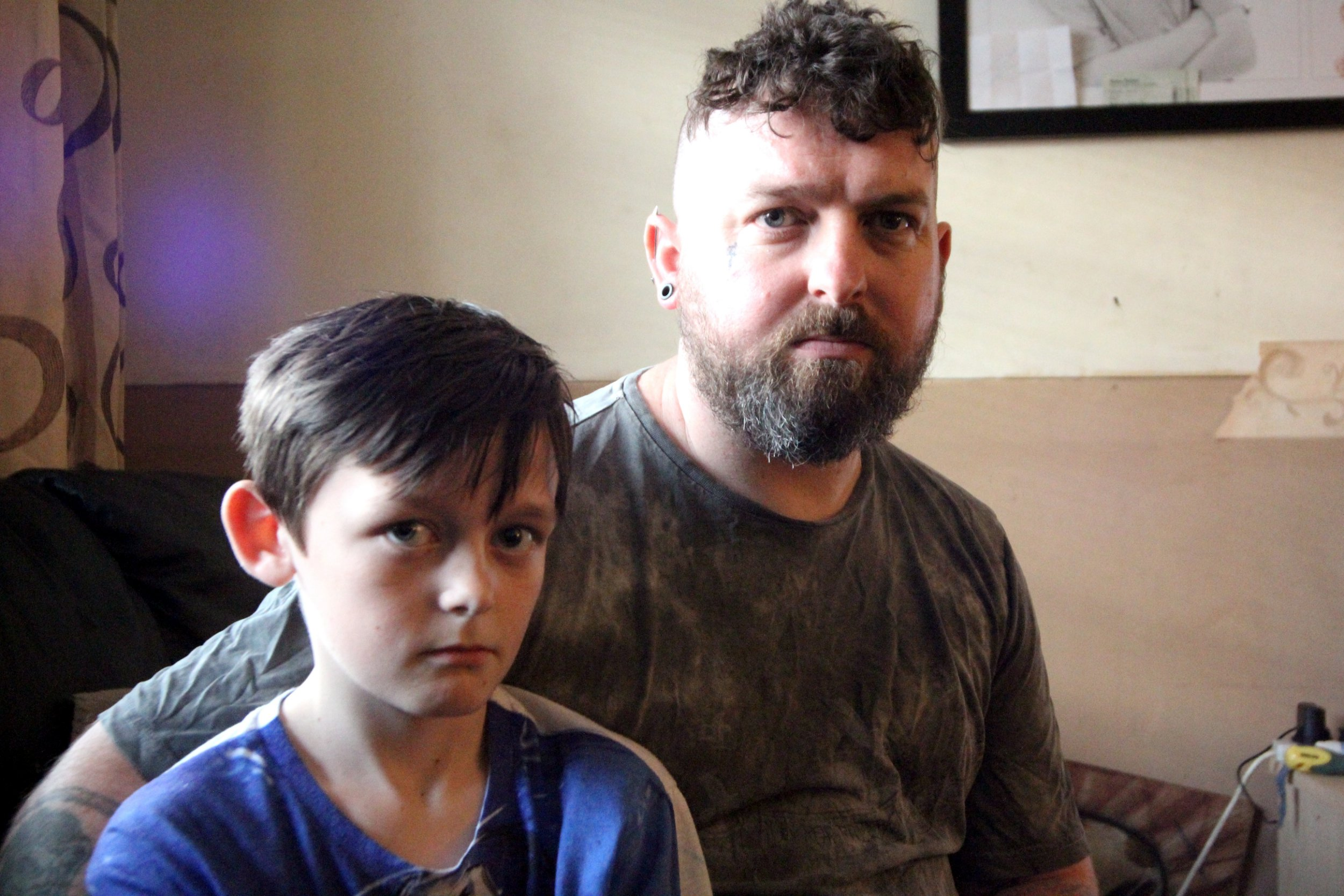 A dad is considering taking his son out of a secondary school amid claims his 12-year-old son keeps getting thrown out of classes for ?pulling faces.? According to Alex Shade, his son Shane is being ?slowly squeezed out of his education? at Kingswood Academy, in Hull, because of his disruptive behaviour. The 35-year-old said the school initially reduced the Year 7 pupil's time in classes to two hours a day as a result of the silliness - but says he has now been told that Shane will only do one hour a day at school after turning up with ?stars and stripes? in his hair.