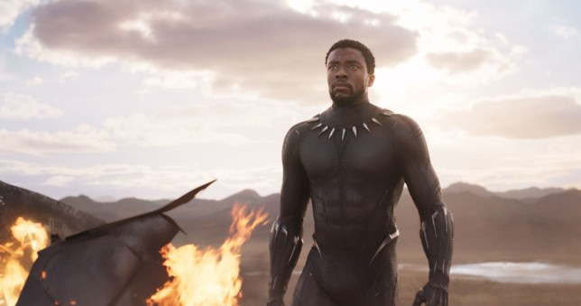 "Editorial use only. No book cover usage. Mandatory Credit: Photo by Marvel/Disney/Kobal/REX/Shutterstock (9360960j) Chadwick Boseman ""Black Panther"" Film - 2018"