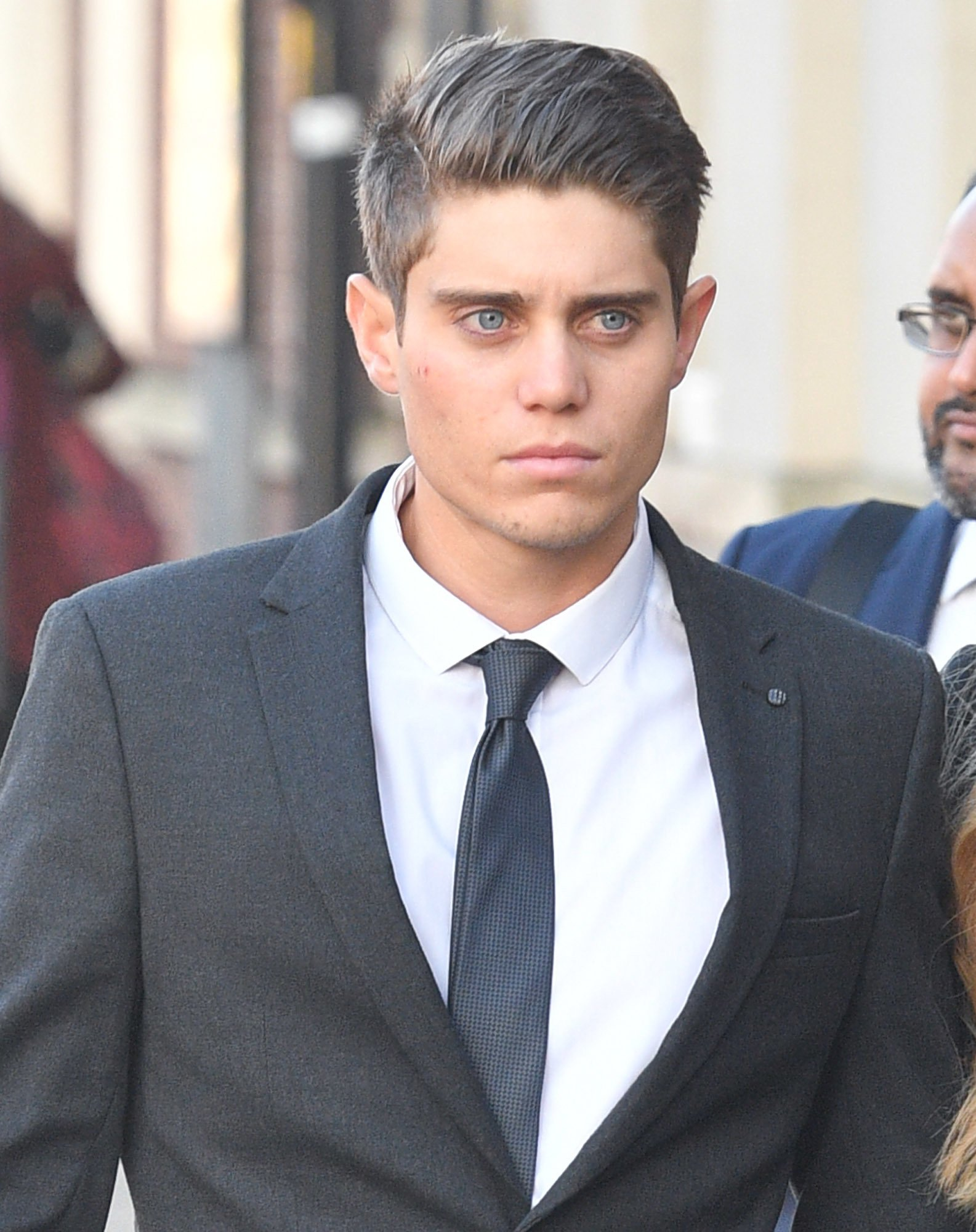 Alex Hepburn arrives at Worcester Crown Court where he is charged with two counts of rape alleged to have been committed in 2017. PRESS ASSOCIATION Photo. Picture date: Wednesday January 9, 2019. See PA story COURTS Cricketer. Photo credit should read: Ben Birchall/PA Wire