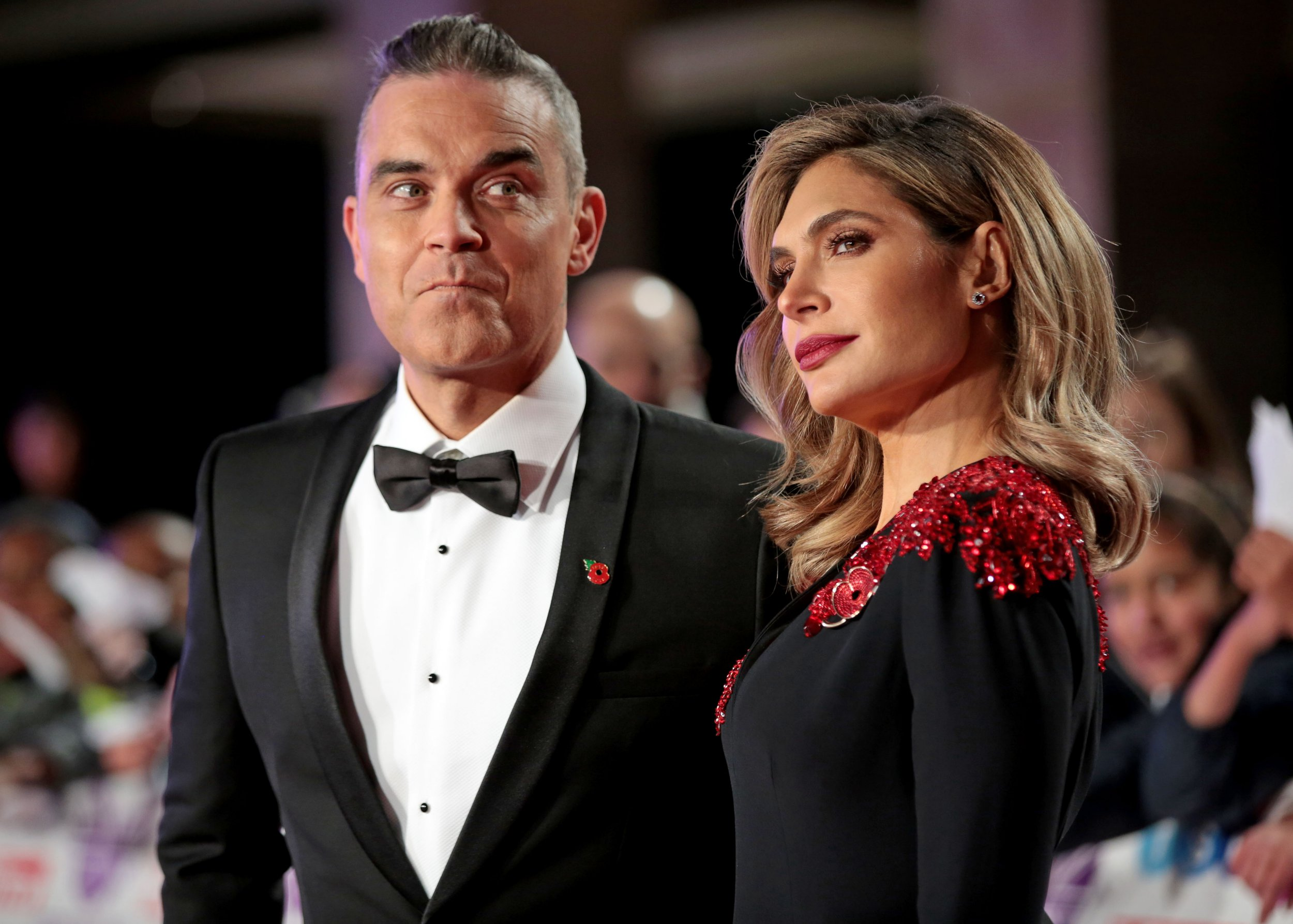 Mandatory Credit: Photo by James Shaw/REX/Shutterstock (9948383ae) Robbie Williams and Ayda Williams Pride of Britain Awards, Grosvenor House, London, UK - 29 Oct 2018