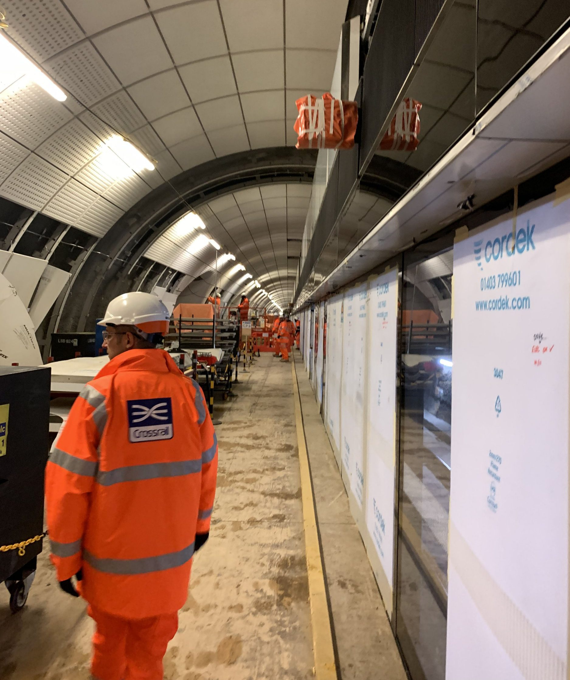 Stark extent of Crossrail's unfinished work revealed with Bond Street station months away from completion. Bond Street is months from completion, without floors, ceilings, escalators, a fire safety system or permanent power supply. It was announced last month that the 73-mile rail scheme?s costs had soared ?2.8 billion to ?17.6 billion and that it may not open until 2020. ? Julian Glover / Evening Standard / eyevine Contact eyevine for more information about using this image: T: +44 (0) 20 8709 8709 E: info@eyevine.com http://www.eyevine.com