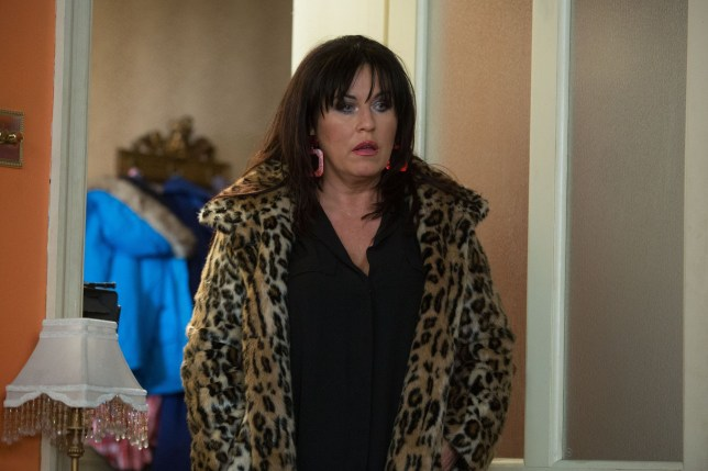 WARNING: Embargoed for publication until 00:00:01 on 19/01/2019 - Programme Name: EastEnders - January - March 2019 - TX: 21/01/2019 - Episode: EastEnders - January - March - 2019 - 5854 (No. n/a) - Picture Shows: *STRICTLY NOT FOR PUBLICATION UNTIL 00:01HRS SATURDAY 19th JANUARY 2019* Kat finds Hayley struggling to build something for Cherry. Kat Moon (JESSIE WALLACE) - (C) BBC - Photographer: Jack Barnes
