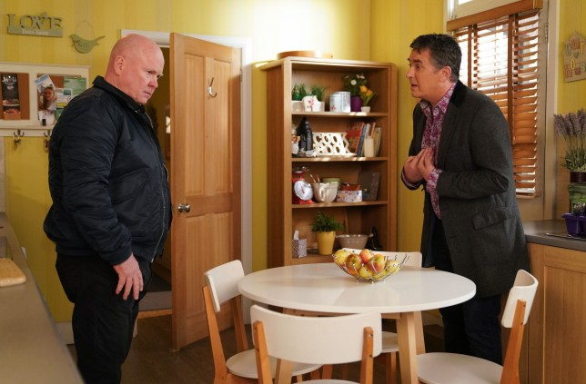 WARNING: Embargoed for publication until 00:00:01 on 15/01/2019 - Programme Name: EastEnders - January - March 2019 - TX: 22/01/2019 - Episode: EastEnders - January - March - 2019 - 5855 (No. 5855) - Picture Shows: *STRICTLY NOT FOR PUBLICATION UNTIL 00:01HRS TUESDAY 15th JANUARY 2019* Alfie makes Phil an offer Phil Mitchell (STEVE MCFADDEN), Alfie Moon (SHANE RICHIE) - (C) BBC - Photographer: Kieron McCarron