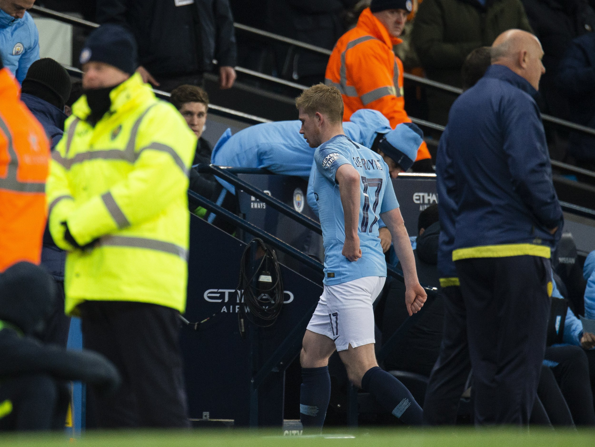 Kevin De Bruyne unhappy with Pep Guardiola after playmaker substituted in Burton win