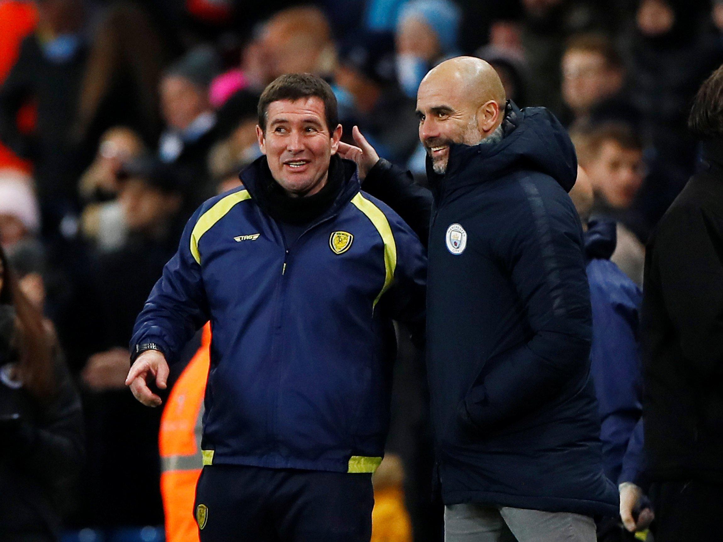 Pep Guardiola praises Burton Albion despite suffering 9-0 loss against Manchester City