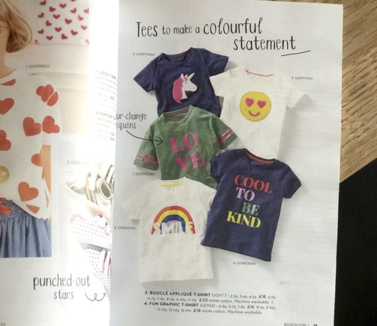 Tweet sent to Boden Clothing complaining about kids range (Picture: Kate O'Sullivan/Twitter)
