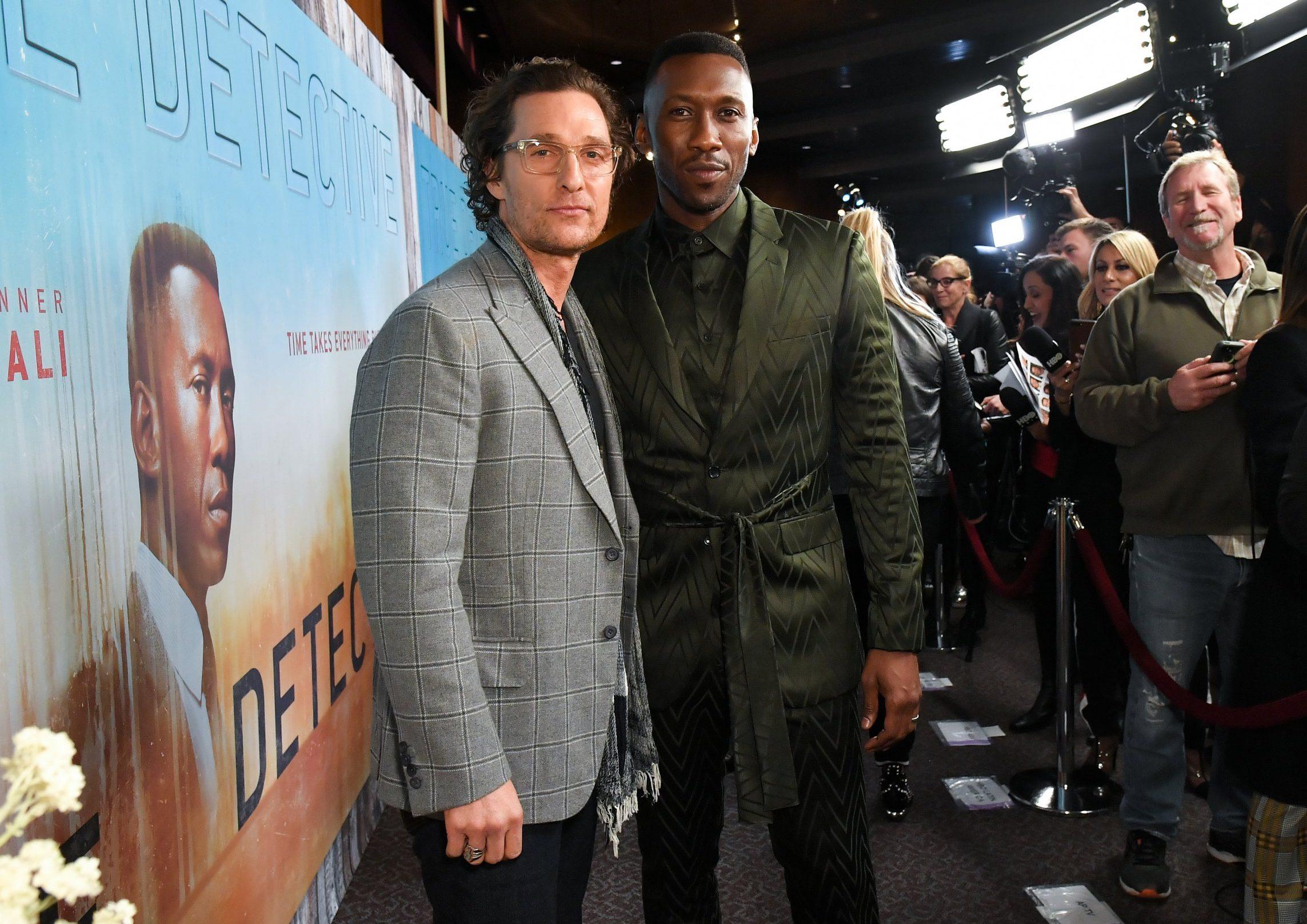 Matthew McConaughey supports Mahershala Ali at True Detective season 3 premiere