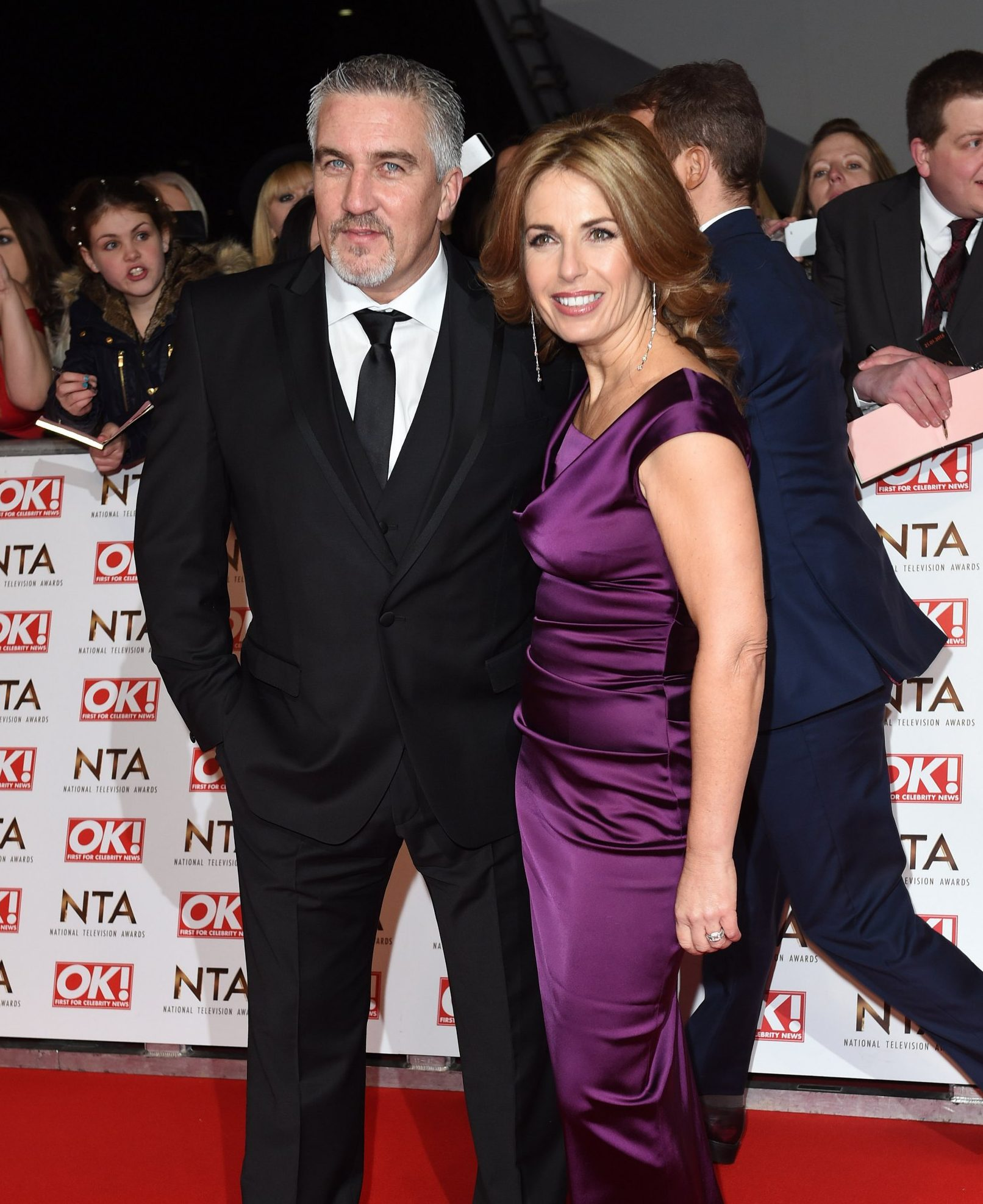 LONDON, ENGLAND - JANUARY 21: Paul Hollywood and wife Alex Hollywood attend the National Television Awards at 02 Arena on January 21, 2015 in London, England. (Photo by Karwai Tang/WireImage)