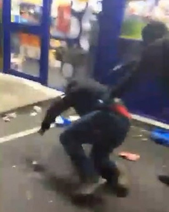 Horrific footage of machete attack in Vauxhall, Liverpool, while sister screams for help Credit: Liverpool Echo