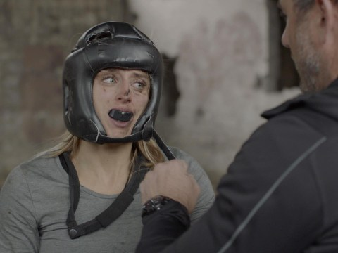 Horrifying moment SAS Who Dares Wins Louise gets punched in the face in 'brutal' boxing bout