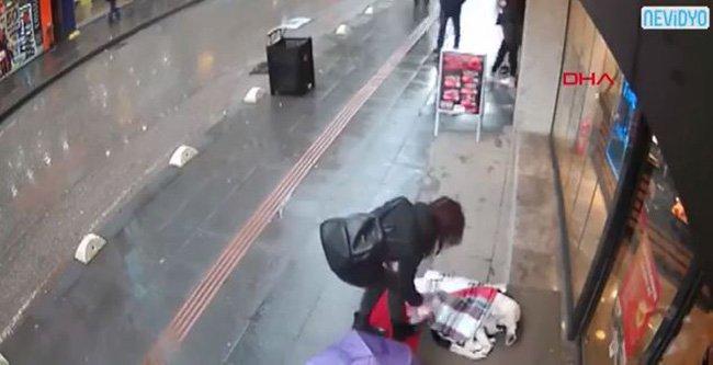 CCTV Captures Woman's Heartwarming Gesture For Cold, Stray Dog Provider: Facebook/ Boran Karahan SOurce: http://www.ladbible.com/community/animals-cctv-captures-womans-heartwarming-gesture-for-cold-stray-dog-20190110