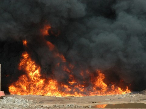 Dozens feared dead after oil tanker exploded while people scooped up leaked fuel