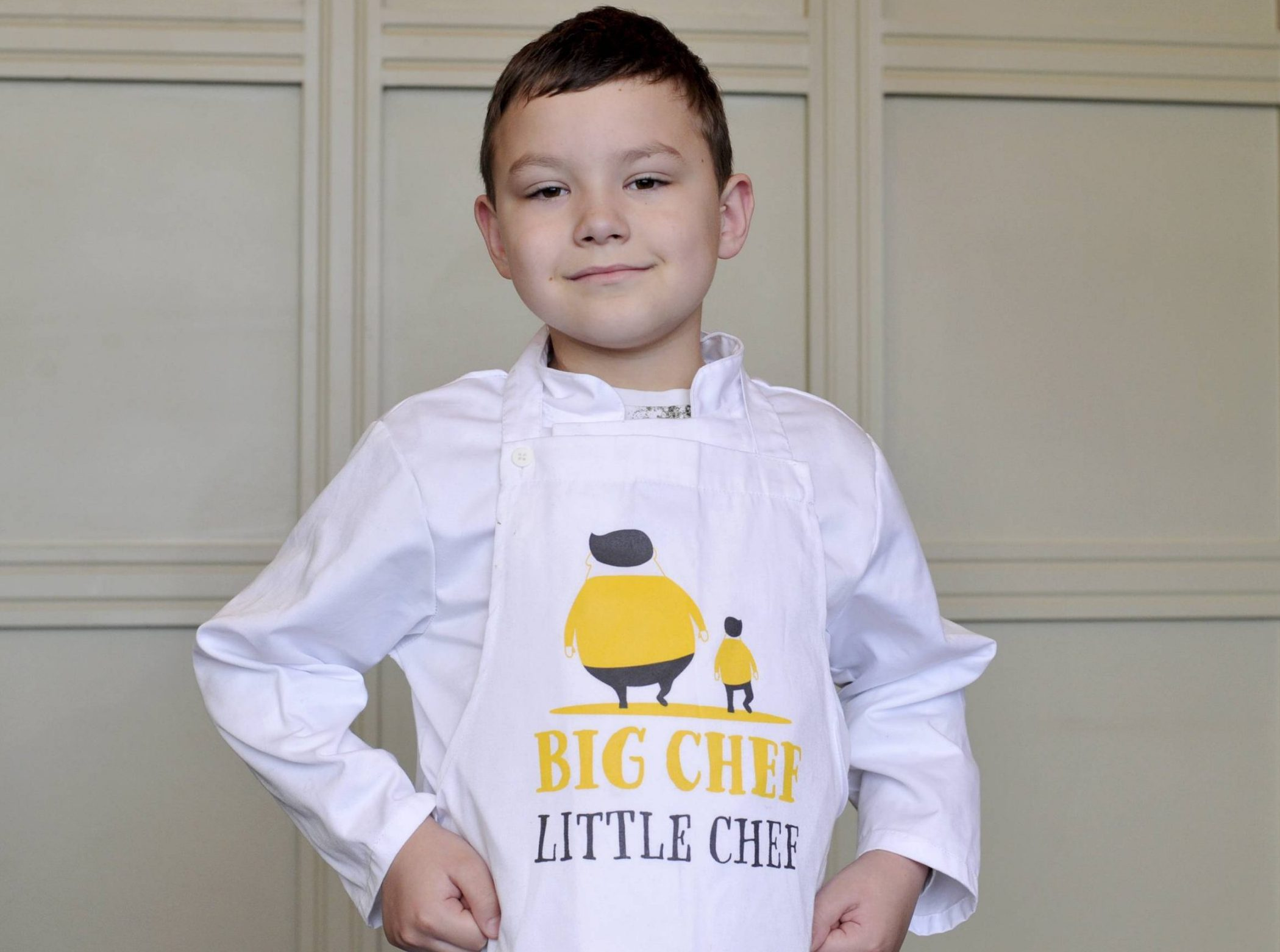 "Dated: 13/01/2019 Six-year-old Armin Baran, from Wallsend, North Tyneside, whose battles with cystic fibrosis inspired his dad Matei Baran to write a charity cook book, ""Big Chef Little Chef,"" which has resulted in restaurant chain Little Chef threatening Matei with legal action in a row over the book's title. See story and video by North News"