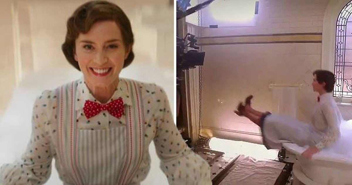 Mary Poppins BTS clip reveals lengths Emily Blunt went to in order to avoid CGI