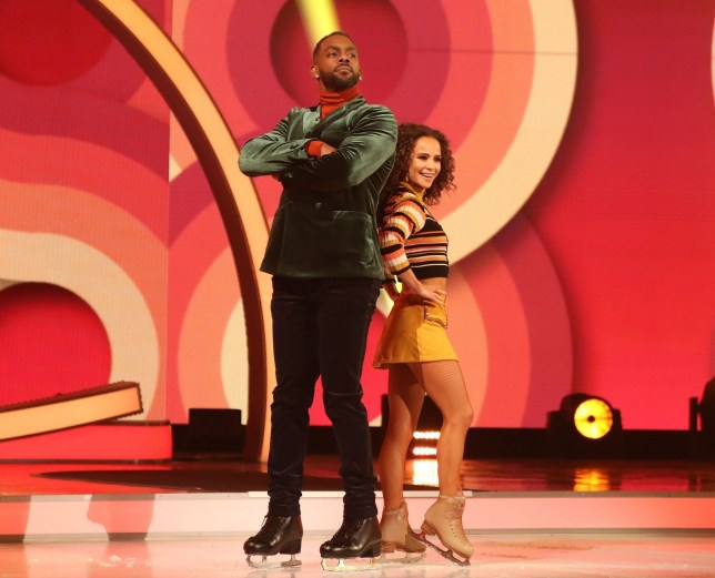 Editorial use only Mandatory Credit: Photo by (10054908bl) Richard Blackwood and Carlotta Edwards 'Dancing on Ice' TV show, Series 11, Episode 2, Hertfordshire, UK - 13 Jan 2019