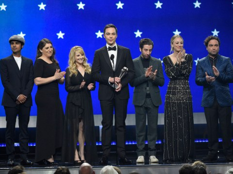 Big Bang Theory's cast unite at Critics Choice Awards to honour show creator Chuck Lorre
