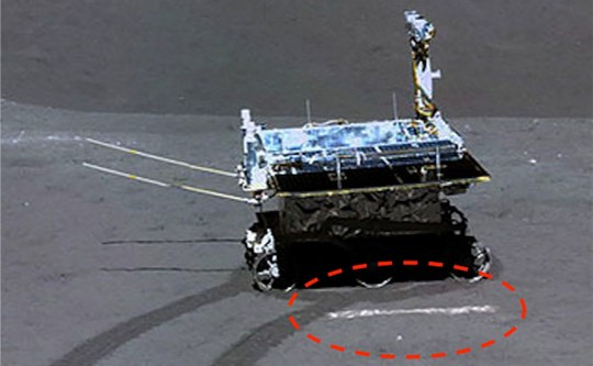 Chalk-drawn line seen in China moon mission shot 'proves that it's fake' https://www.ufosightingsdaily.com/2019/01/stage-prop-line-in-front-of-chinas-moon.html