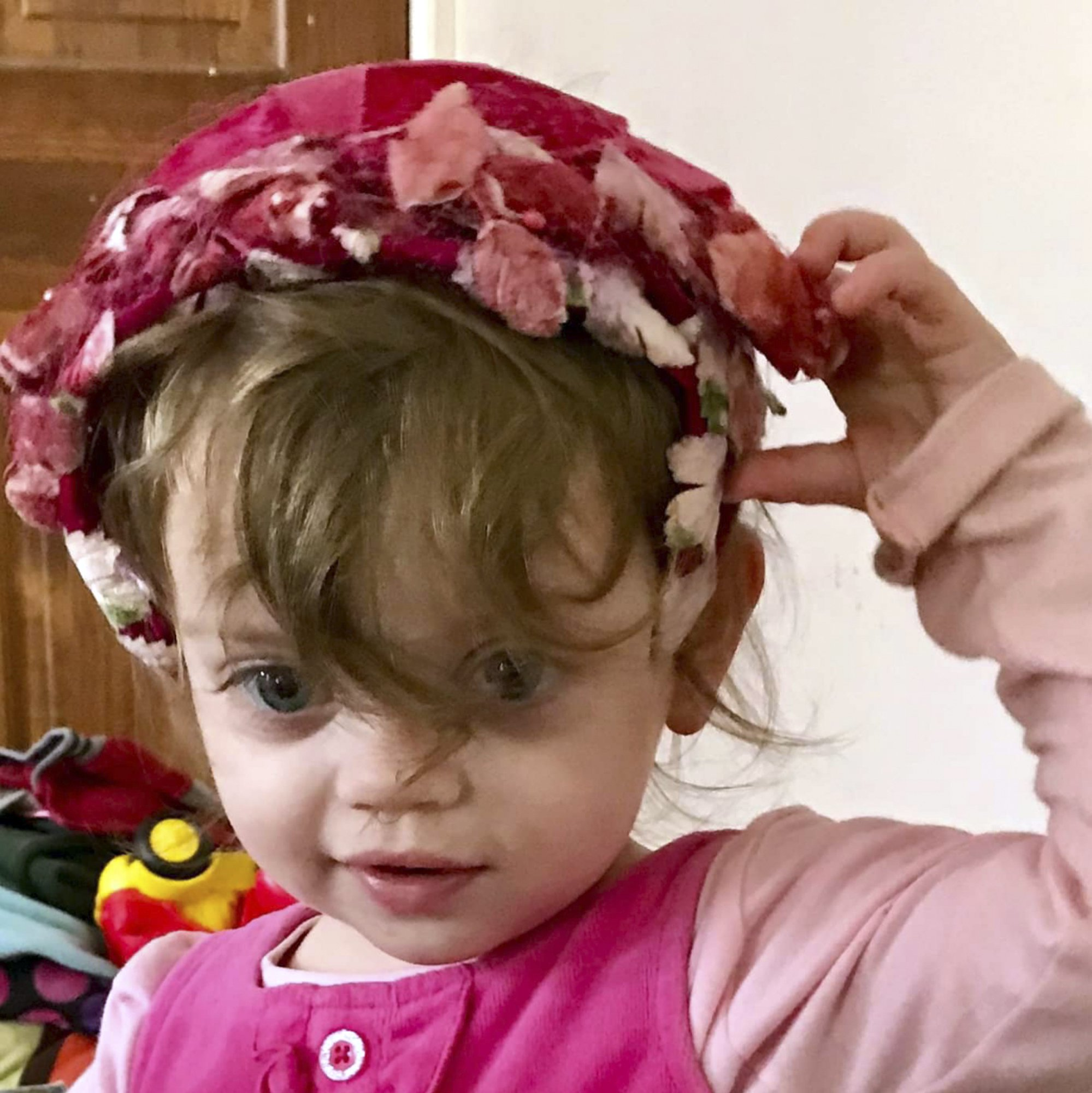 This undated family photo provided by Lindsay Van Schoick shows his granddaughter Sofia Van Schoick, who was found dead outside her house in sub-zero weather early Monday, Jan. 14, 2019, in Newport, N.H. She was 2-years-old. (Courtesy of Lindsay Van Schoick via AP)