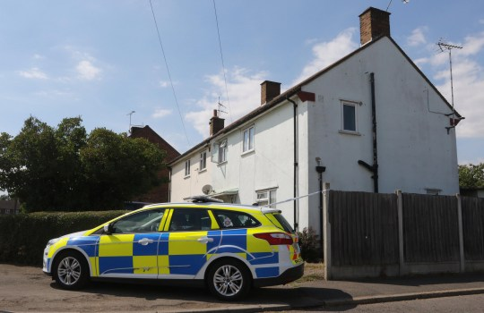 Date: January 15 2019 Location: Rochford, Essex, England. A woman is due to appear in court accused of murdering her son. Christina Acres will appear before Basildon Crown Court acused of the murder of her seven-year-old son, George Acres in July last year at her home in Rochford, Essex. Pictured: Police outside Christina Acres' house. Words: Essex News and Pictures.
