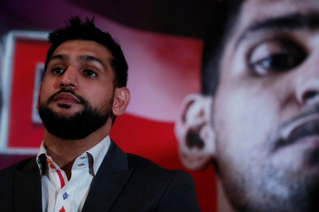 Boxing - Terence Crawford & Amir Khan Press Conference - The Landmark Hotel, London, Britain - January 15, 2019 Amir Khan during the press conference Action Images via Reuters/Andrew Couldridge