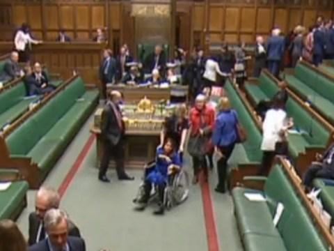 Pregnant Labour MP votes on Brexit vote in wheelchair having delayed caesarean