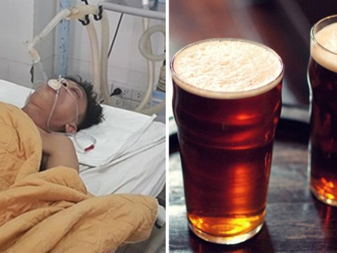 Man has 15 cans of beer pumped into stomach to stop him dying of alcohol poisoning