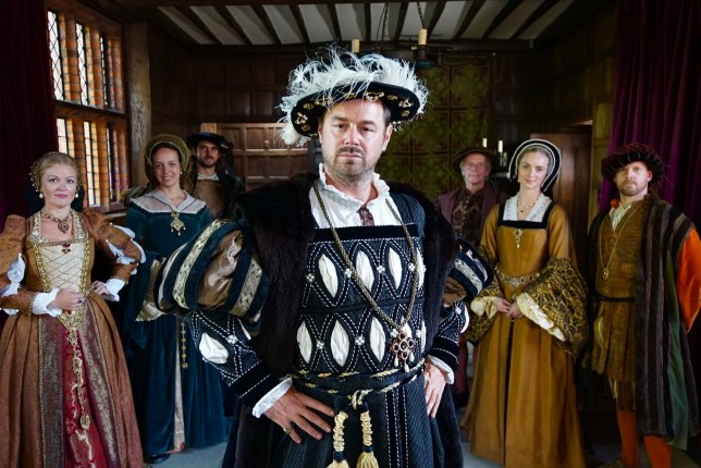 Programme Name: Danny Dyer's Right Royal Family - TX: n/a - Episode: Danny Dyer's Right Royal Family - ep 2 (No. 2) - Picture Shows: dressed as a Tudor courtier in the era of his 15 x grandfather Sir John Seymour Danny Dyer - (C) Wall to Wall Media - Photographer: Jack Coathupe