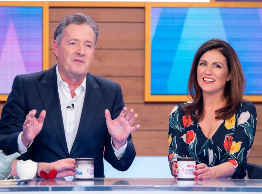 Editorial use only Mandatory Credit: Photo by Ken McKay/ITV/REX (10063992ay) Piers Morgan and Susanna Reid 'Loose Women' TV show, London, UK - 16 Jan 2019 ELEB GUESTS: TV's most dysfunctional couple...it's Piers and Susanna! In their first interview since their 'engagement', Piers Morgan and Susanna Reid join us today - but if their marriage on the rocks before it's even begun? We'll be giving them some much-needed couples counselling! They?ll be hopping over from the GMB studio to join the Loose panel as we chat about their three-year partnership on Good Morning Britain, their latest on-air trials and tribulations, oh, and the fact they too are shortlisted for an NTA this year - not that we're competitive!