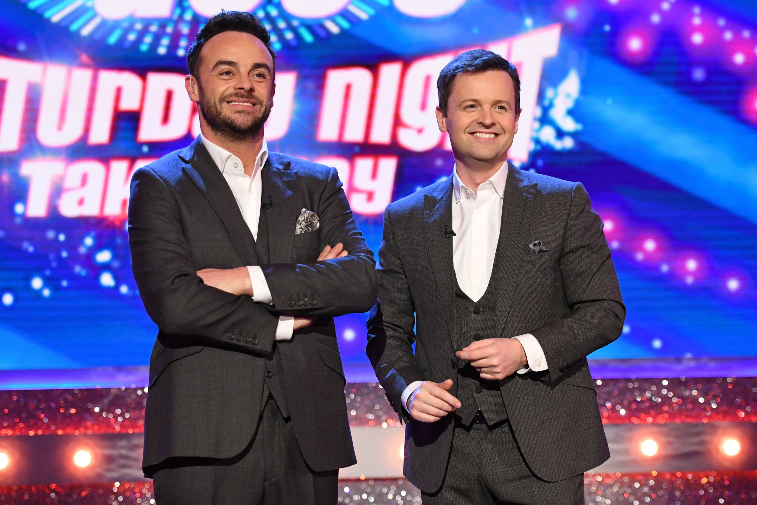 Editorial use only Mandatory Credit: Photo by Kieron Mccarron/REX/Shutterstock (9469464as) Anthony McPartlin and Declan Donnelly 'Ant & Dec's Saturday Night Takeaway' TV Show, Series 15, Episode 4, London, UK - 17 Mar 2018