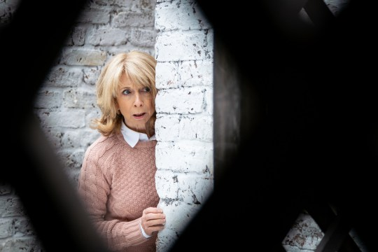 FROM ITV STRICT EMBARGO - No Use Before Tuesday 11th December 2018 Coronation Street - 9650 Wednesday 26th December 2018 Lewis takes a phone call and heads out to the Rovers? back yard, Gail Rodwell [HELEN WORTH] follows him. As she listens to his conversation, her eyes widen. Picture contact - David.crook@itv.com Photographer - Andrew Boyce This photograph is (C) ITV Plc and can only be reproduced for editorial purposes directly in connection with the programme or event mentioned above, or ITV plc. Once made available by ITV plc Picture Desk, this photograph can be reproduced once only up until the transmission [TX] date and no reproduction fee will be charged. Any subsequent usage may incur a fee. This photograph must not be manipulated [excluding basic cropping] in a manner which alters the visual appearance of the person photographed deemed detrimental or inappropriate by ITV plc Picture Desk. This photograph must not be syndicated to any other company, publication or website, or permanently archived, without the express written permission of ITV Picture Desk. Full Terms and conditions are available on www.itv.com/presscentre/itvpictures/terms