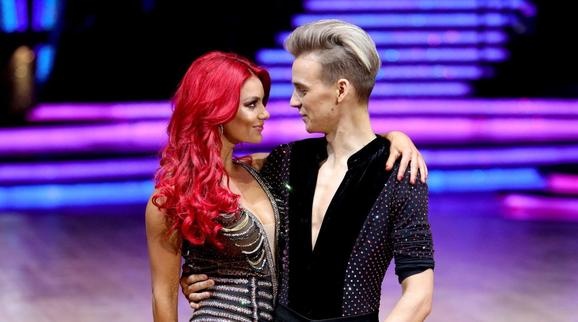 Strictly Come Dancing's Joe Sugg and Dianne Buswell laugh off second tour tumble as they joke about 'going on a lot of trips'