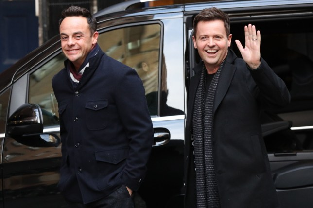 Anthony McPartlin (left) and Declan Donnelly arrive at Britain's Got Talent auditions at the London Palladium. PRESS ASSOCIATION Photo. Picture date: Friday January 18, 2019. See PA story SHOWBIZ McPartlin. Photo credit should read: Jonathan Brady/PA Wire