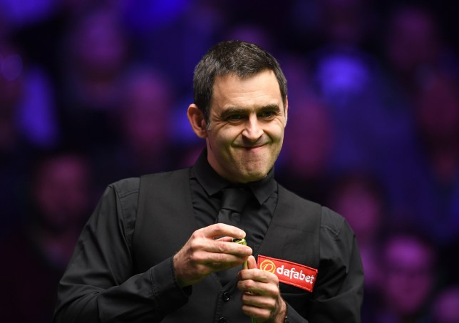 19th January 2019, Alexandra Palace, London, England; Dafabet Masters Snooker, semi finals; Ronnie O'Sullivan versus Ding Junhui, Ronnie O'Sullivan considers his options in the first frame of his match (photo by Simon West/Action Plus via Getty Images)