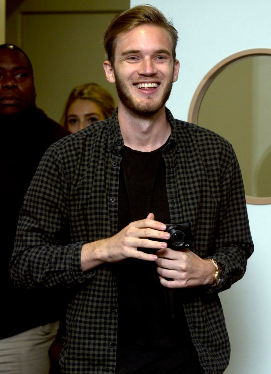 File photo dated 18/10/15 of PewDiePie, real name Felix Kjellberg, one of the world's biggest YouTube stars, as Google has distanced itself from Kjellberg over allegations of anti-Semitism.