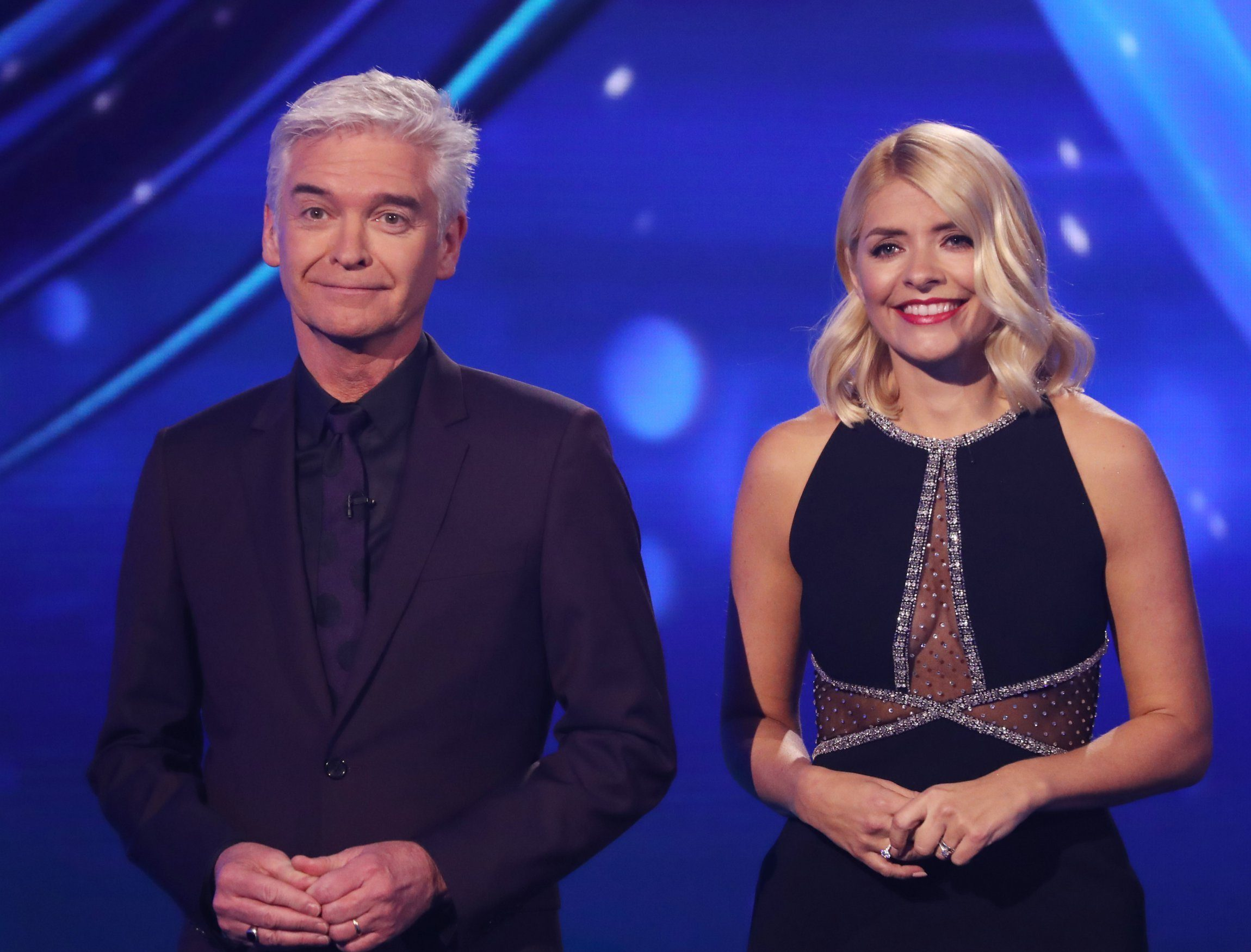 Editorial use only Mandatory Credit: Photo by Matt Frost/ITV/REX (10067937bq) Phillip Schofield and Holly Willoughby 'Dancing on Ice' TV show, Series 11, Episode 3, Hertfordshire, UK - 20 Jan 2019