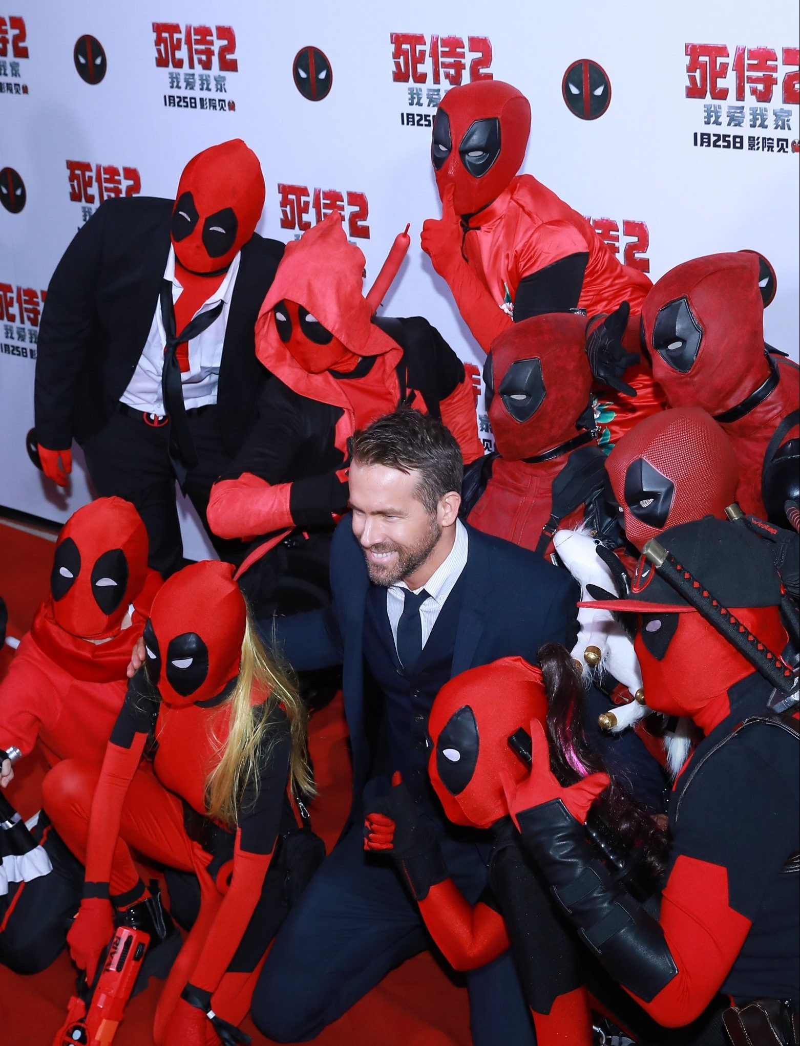 BEIJING, CHINA - JANUARY 20: Actor Ryan Reynolds attends the premiere of 'Deadpool 2' at Park Hyatt Hotel on January 20, 2019 in Beijing, China. (Photo by VCG/VCG via Getty Images)