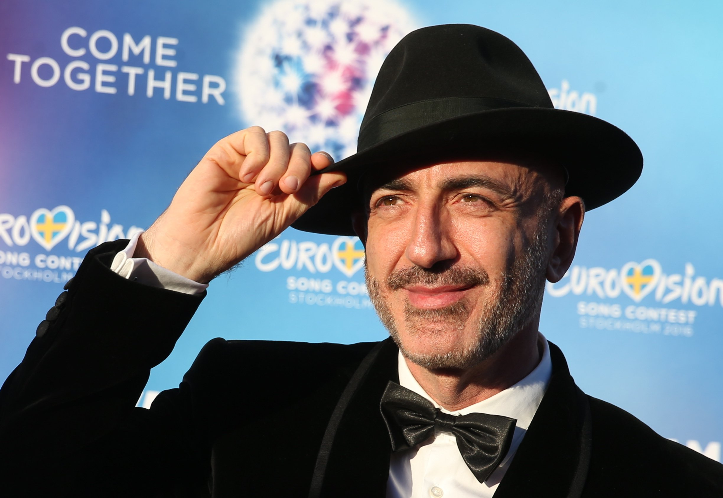 STOCKHOLM, SWEDEN - MAY 8, 2016: Singer Serhat representing San Marino arrives at the Stockholm City Hall for the opening ceremony of the 61st annual Eurovision Song Contest. Vyacheslav Prokofyev/TASS (Photo by Vyacheslav Prokofyev\TASS via Getty Images)
