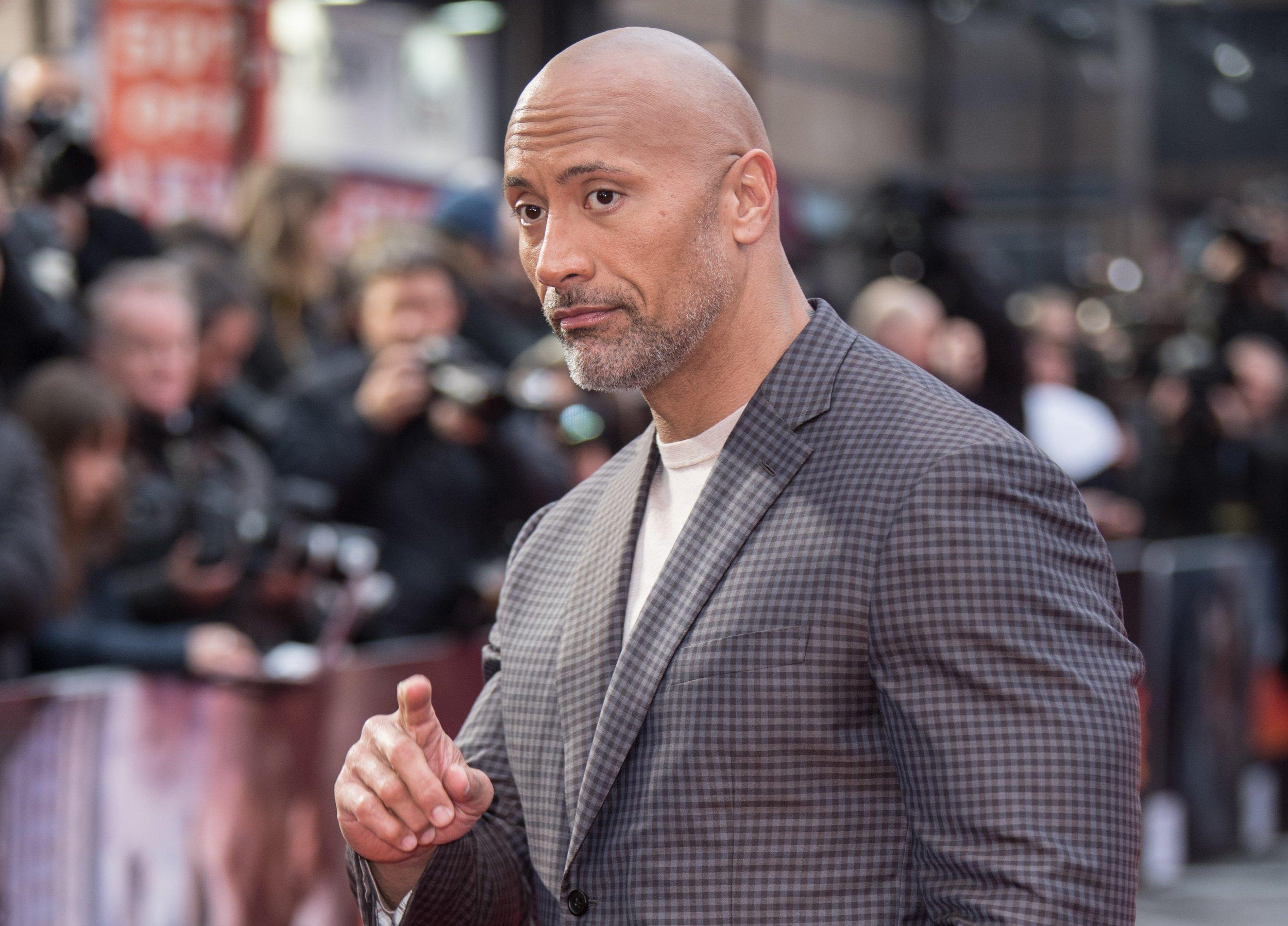 Mandatory Credit: Photo by James Gourley/REX/Shutterstock (9624860cf) Dwayne Johnson 'Rampage' film premiere, London, UK - 11 Apr 2018
