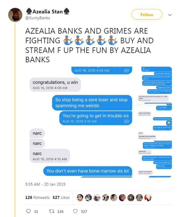 Azealia Banks reveals scathing texts with Grimes over Elon ...