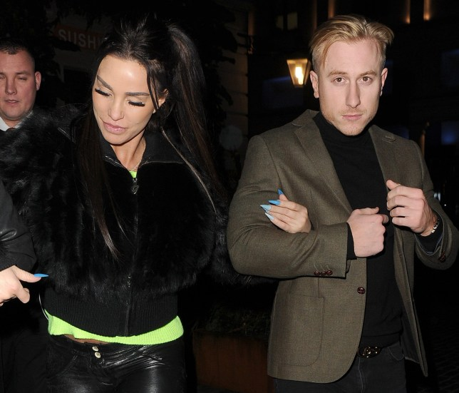 Katie Price is seen for the first time in ages, with on / off boyfriend Kris Boyson. The couple were arm in arm as they left Sushi Samba restaurant in Covent Garden at 11.30pm. Katie appeared to be extremely worse for wear, despite claiming to have given up drinking. The choice of restaurant appeared strange, as the star has recently declared herself bankrupt. 21 Jan 2019 Pictured: Katie Price, Kris Boyson. Photo credit: Will / Mark / MEGA TheMegaAgency.com +1 888 505 6342