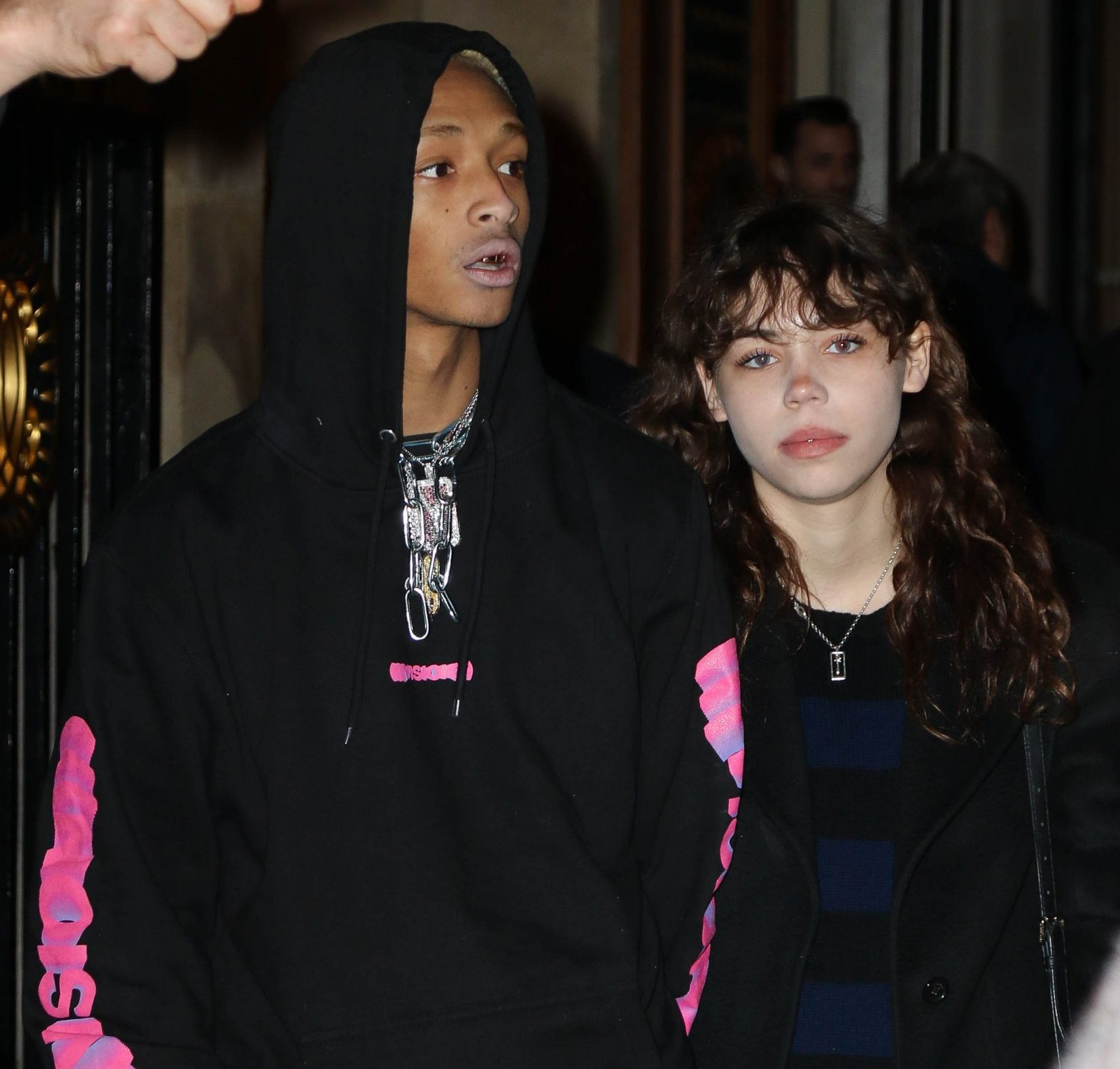 People in Paris during Paris Fashion Week Pictured: Jaden Smith Ref: SPL5057055 220119 NON-EXCLUSIVE Picture by: Starface / SplashNews.com Splash News and Pictures Los Angeles: 310-821-2666 New York: 212-619-2666 London: 0207 644 7656 Milan: 02 4399 8577 photodesk@splashnews.com United Arab Emirates Rights, Argentina Rights, Australia Rights, Austria Rights, Brazil Rights, Canada Rights, China Rights, Denmark Rights, Ireland Rights, Finland Rights, Greenland Rights, Greece Rights, Guatemala Rights, Haiti Rights, Hong Kong Rights, Croatia Rights, Indonesia Rights, Israel Rights, Japan Rights, Morocco Rights, Mexico Rights, Norway Rights, New Zealand Rights, Peru Rights, Portugal Rights, Romania Rights, Philippines Rights, Russia Rights, Singapore Rights, Sweden Rights, Thailand Rights, Taiwan Rights, United Kingdom Rights, United States of America Rights