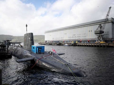 Royal Navy nuclear sub in near-miss with ferry off UK coast