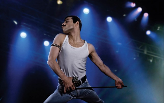 Rami Malek stars as Freddie Mercury in Bohemian Rhapsody