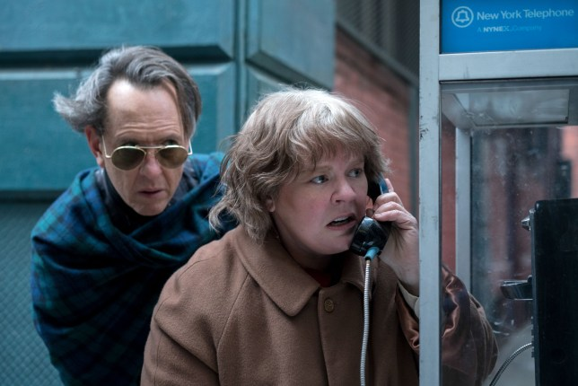 Editorial use only. No book cover usage. Mandatory Credit: Photo by M Cybulski/20thCenturyFox/Kobal/REX/Shutterstock (9927691b) Richard E. Grant as Jack Hock, Melissa McCarthy as Lee Israel 'Can You Ever Forgive Me?' Film - 2018 When Lee Israel falls out of step with current tastes, she turns her art form to deception. An adaptation of the memoir Can You Ever Forgive Me?, the true story of best-selling celebrity biographer Lee Israel.