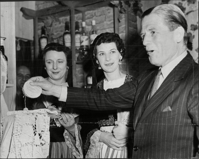 Mandatory Credit: Photo by ANL/REX/Shutterstock (1946957a) Sir John Harding  Lord Harding At The Ideal Home Exhibition With Two Ladies In Cyprus  National ...