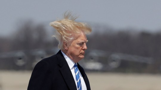 FILE IMAGE Donald Trump goes everywhere with can of Tresemme Tres Two hairspray