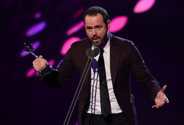 Mandatory Credit: Photo by David Fisher/REX (10069676ds) Danny Dyer - Serial Drama Performance - 'EastEnders'\ 23rd National Television Awards, Show, O2, London, UK - 22 Jan 2019